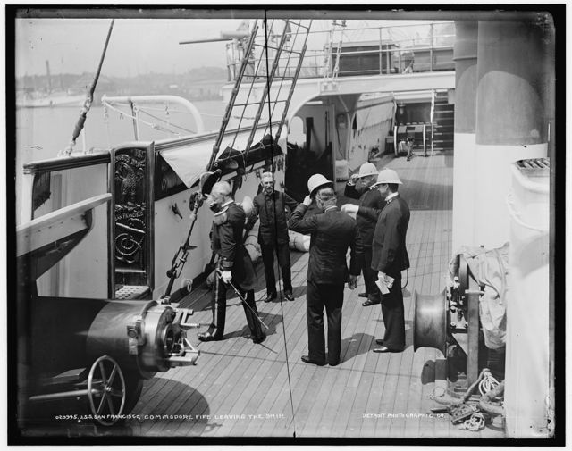 U.S.S. San Francisco, Commodore Fife leaving the ship
