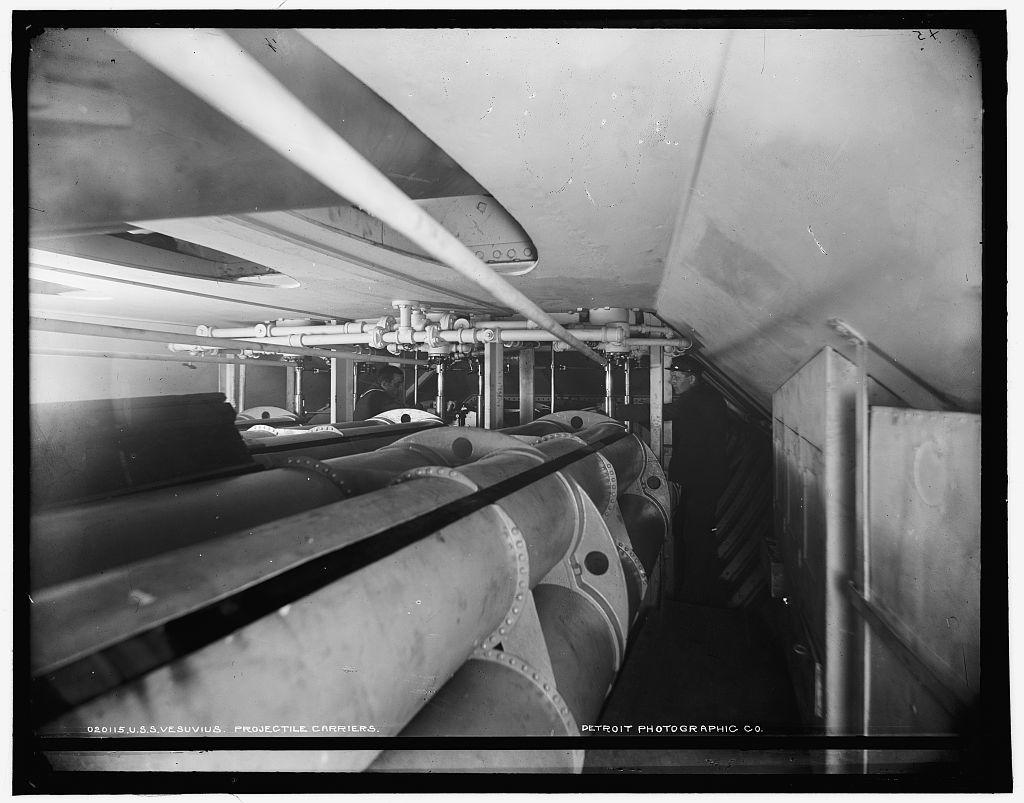 U.S.S. Vesuvius, projectile carriers