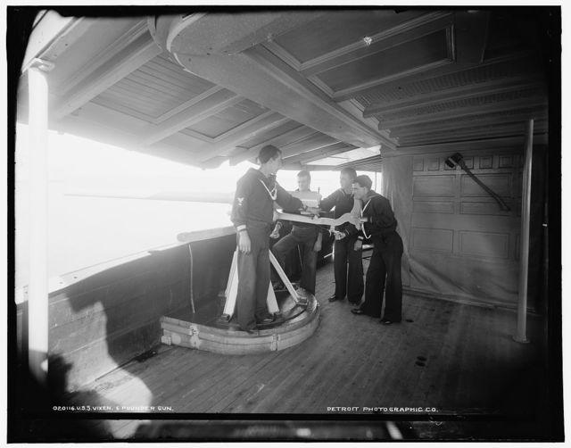 U.S.S. Vixen, 6 pounder gun