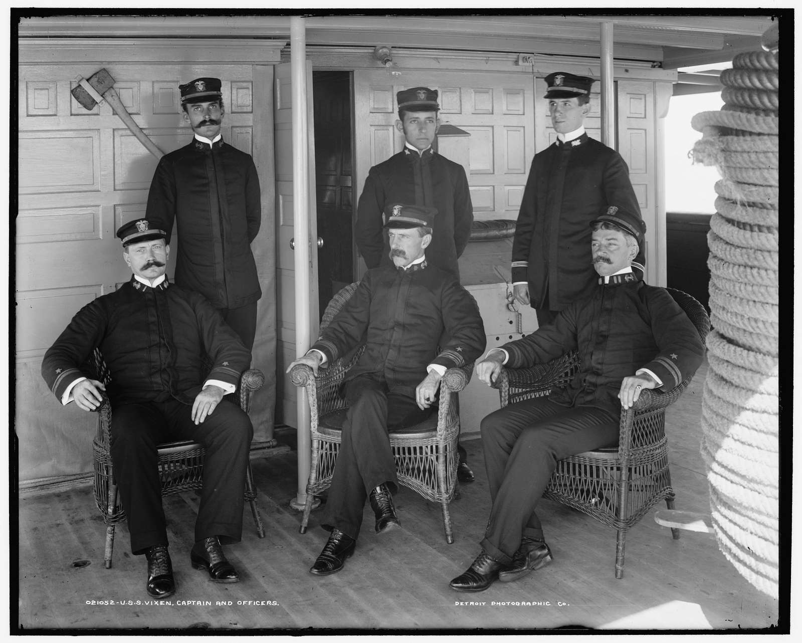 U.S.S. Vixen, Capt. and officers