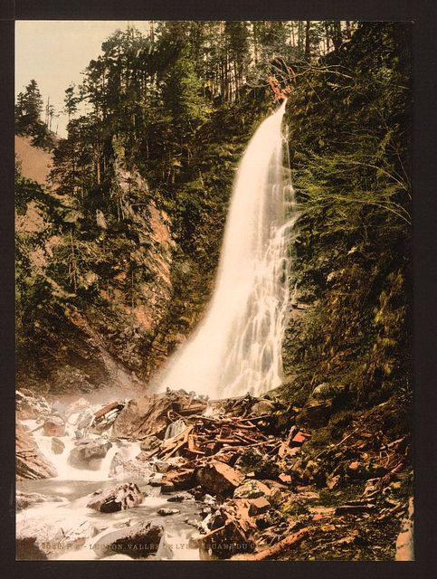 [Valley of Lys and Cascade de Cocur, Luchon, Pyrenees, France]