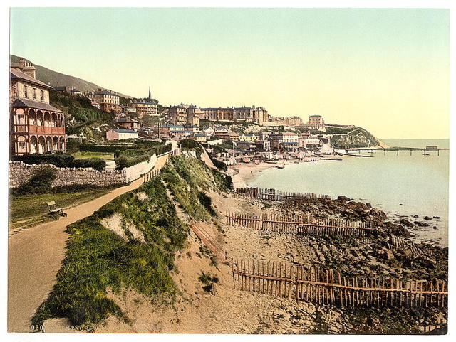 [Ventnor, from West Cliff, Isle of Wight, England]