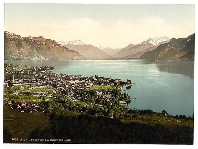 [Vevey, and Dent du Midi, Geneva Lake, Switzerland]