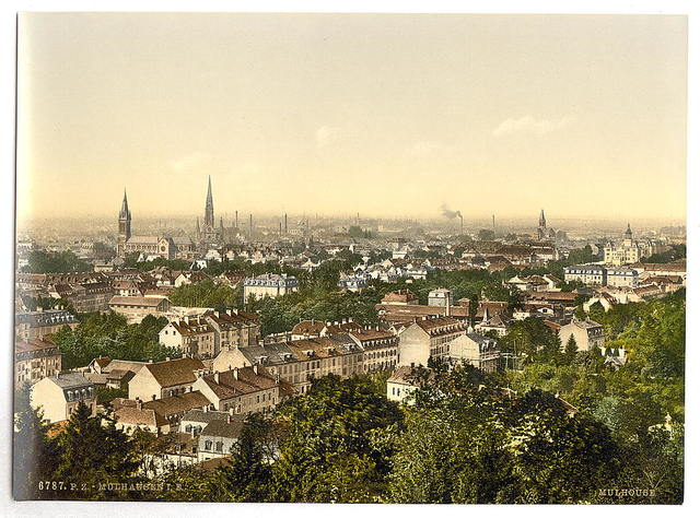 [View from south, Mulhausen, Alsace Lorraine, Germany]