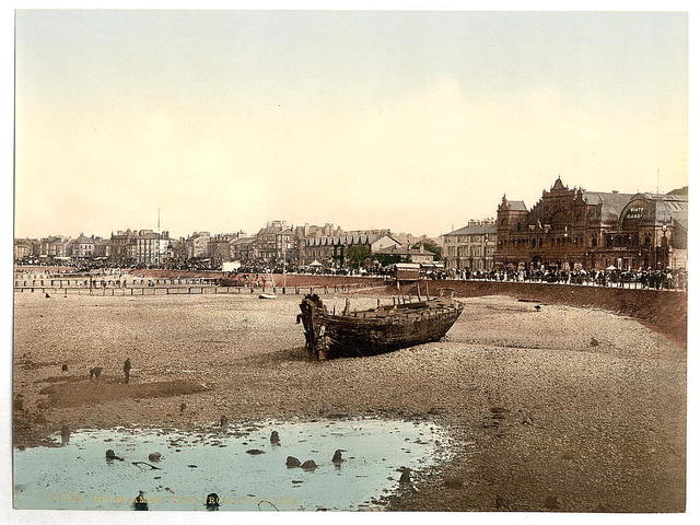 [View from stone pier, Morecambe, England]