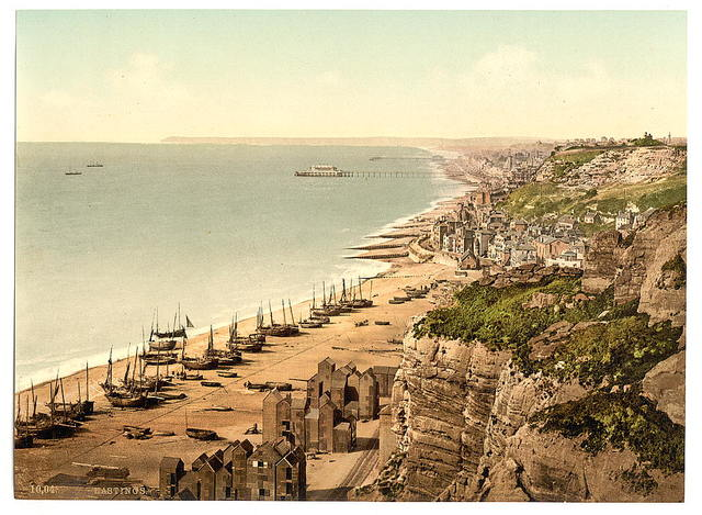 [View from the East Cliff, Hastings, England]