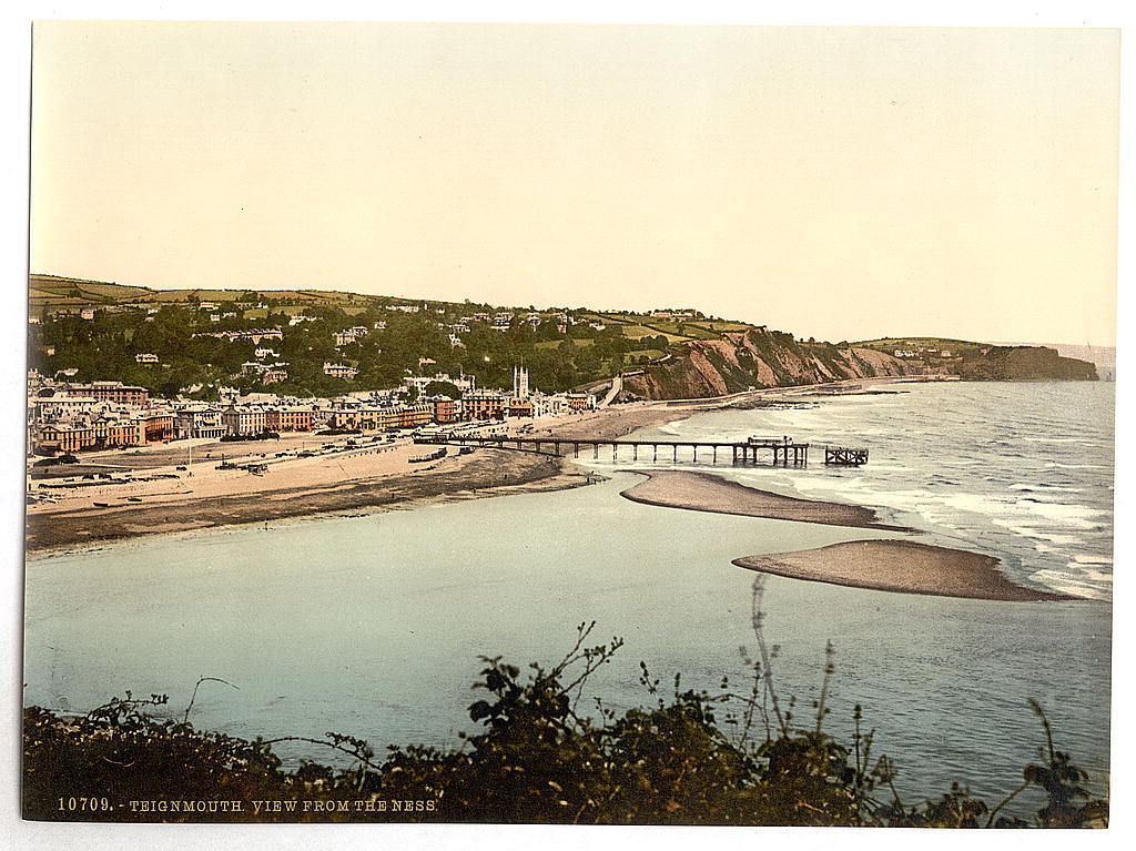 [View from the Ness, Teignmouth, England]