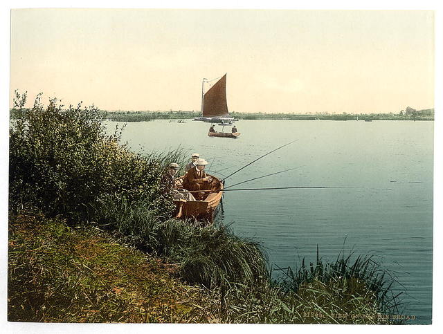[View on the river, Barton Broad, England]