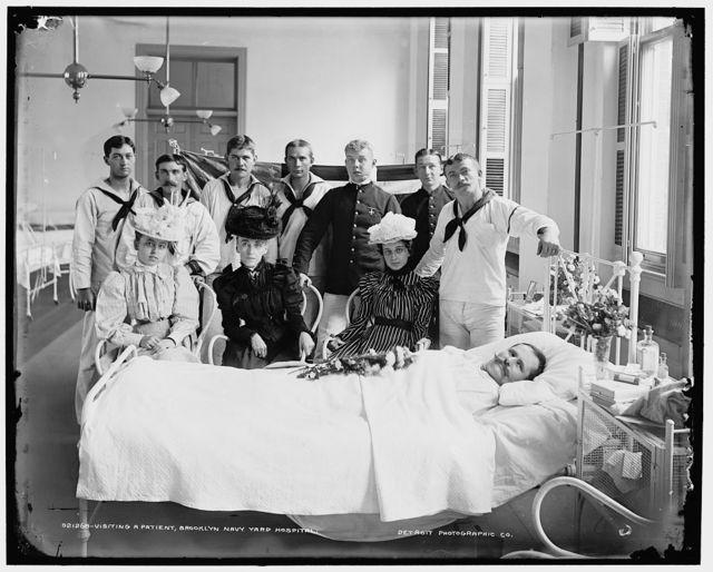 Visiting a patient, Brooklyn Navy Yard Hospital