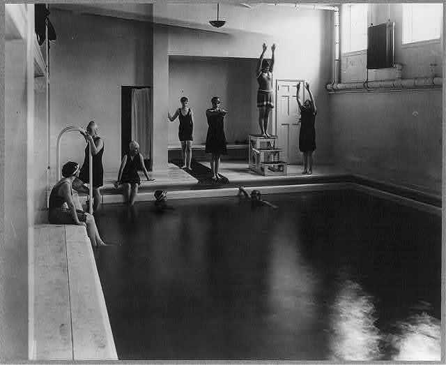 Washington, D.C. Mount Vernon Seminary - girls in swimming pool
