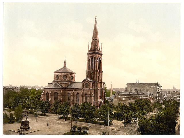 [Weltzin Place and St. Paul's Church, Bromberg, Germany (i.e., Bydgoszcz, Poland)]