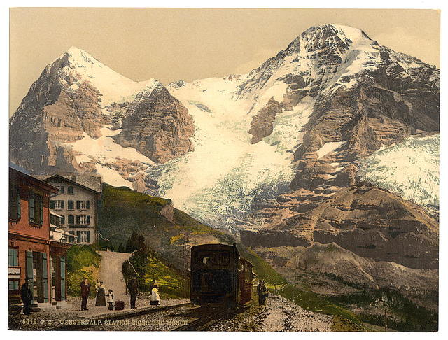 [Wengern Alp Station, Eiger and Monch, Bernese Oberland, Switzerland]