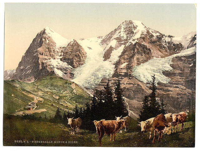 [Wengern, Monch and Eiger, Bernese Oberland, Switzerland]
