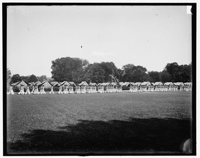 [West Point, N.Y., battalion passing in review]
