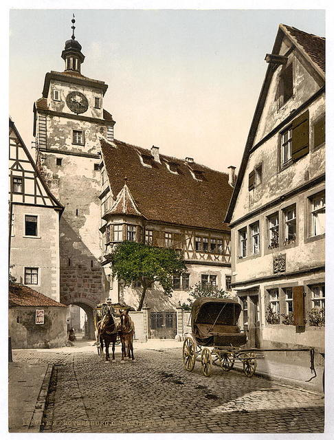 [White Tower (i.e. Weisser Turm), Rothenburg (i.e. ob der Tauber), Bavaria, Germany]