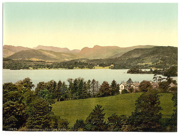 [Windermere and Langdale Pikes, Lake District, England]