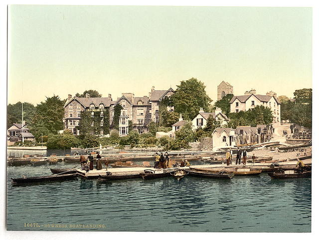 [Windermere, Bowness, boat landing, Lake District, England]