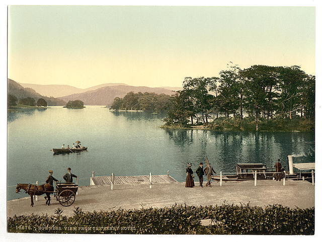 [Windermere, Bowness, from Ferry Hotel, Lake District, England]