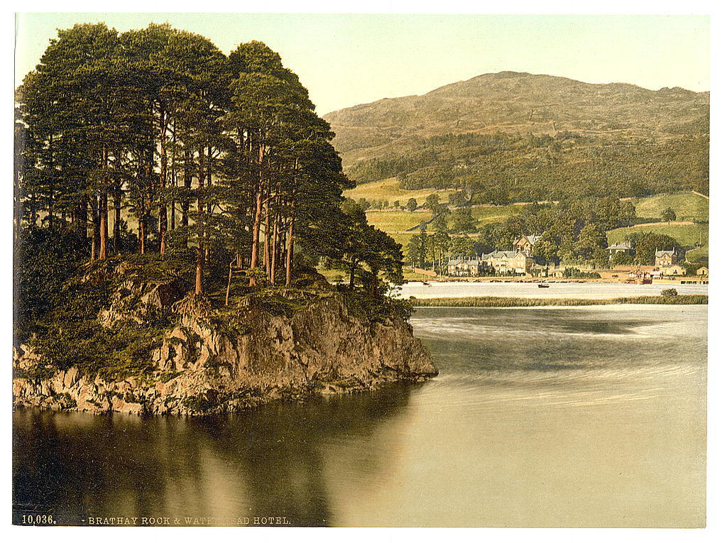 [Windermere, Brathay Rock and Waterhead Hotel, Lake District, England]