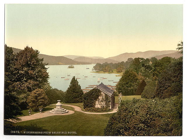 [Windermere, from Belsfield Hotel, Lake District, England]