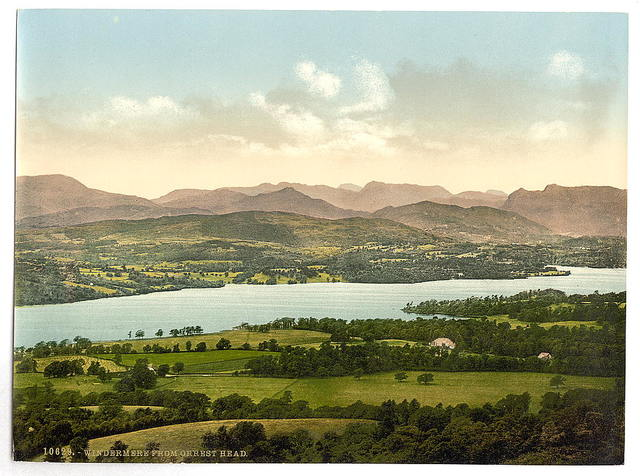 [Windermere, from Orrest Head, Lake District, England]