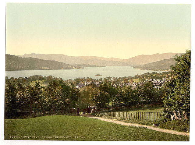 [Windermere, from summit, Lake District, England]