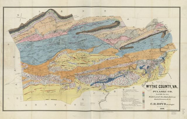 Wythe County, Va. with part of Pulaski Co. : products of soil, ores, rocks, railways, roads, furnaces, etc., etc. /