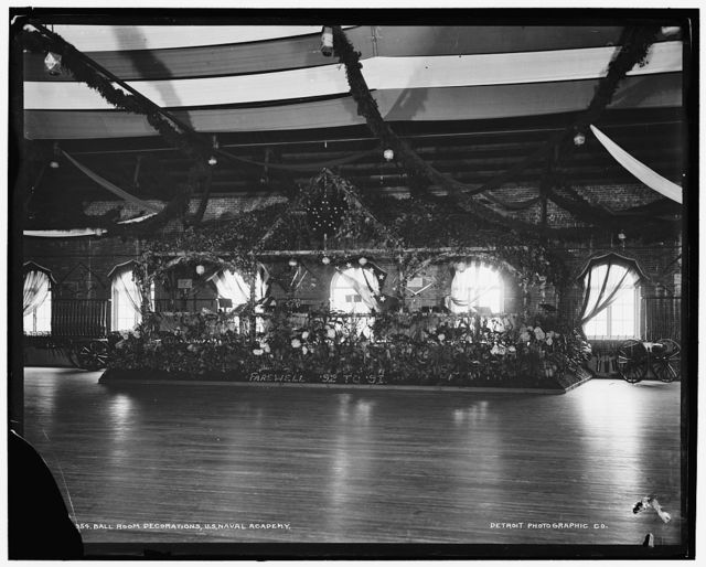 Ball room decorations, U.S. Naval Academy