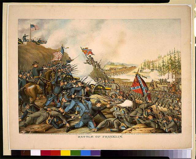 Battle of Franklin. November 30, 1864-Union (Gen. Schofield) ... Conf. (Gen. Hood) ...