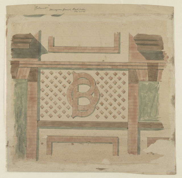 """Belcourt,"" monogram panel West side."
