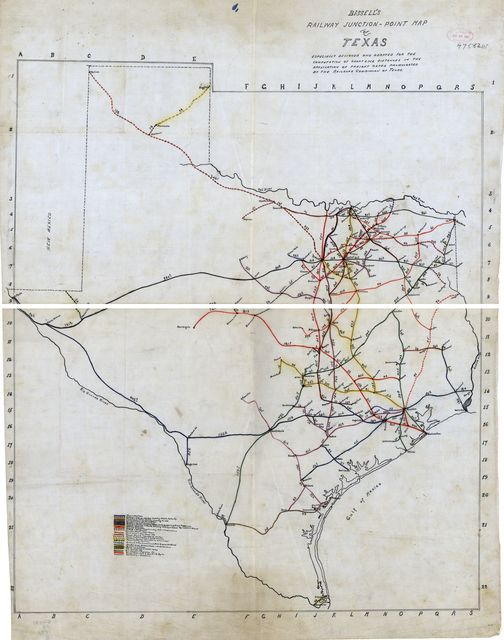 Bissell's railway junction point map of Texas /