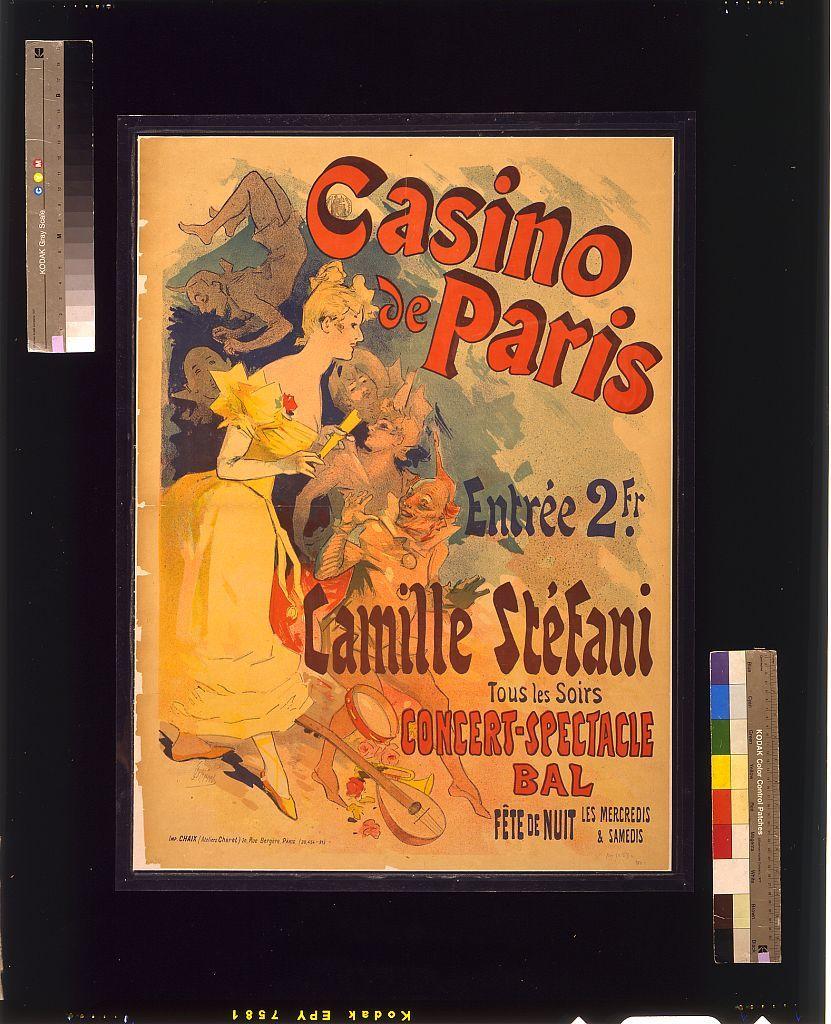 Casino de Paris. Camille Stéfani. Concert-spectacle bal / J. Chéret.