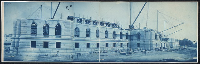 Construction of the Library of Congress, Washington, D.C., Aug. 8, 1891