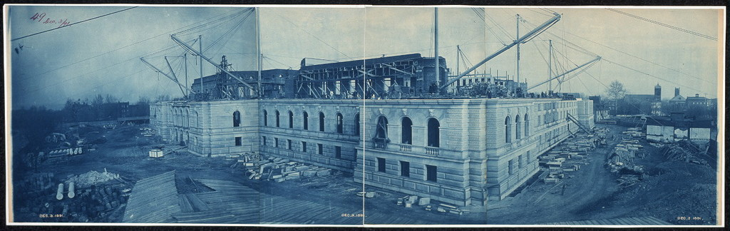 Construction of the Library of Congress, Washington, D.C., Dec. 3, 1891
