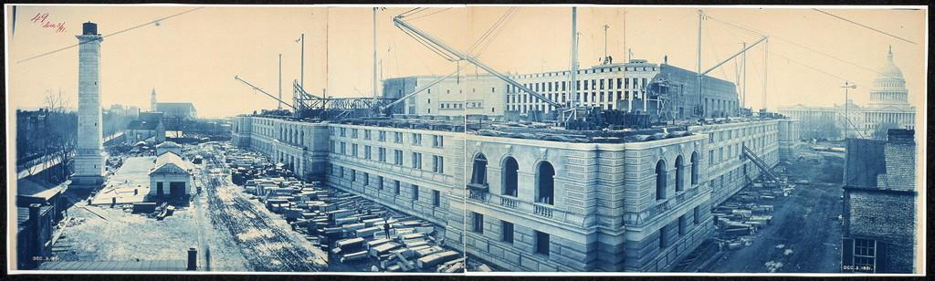 Construction of the Library of Congress, Washington, D.C., Dec. 3, 1891