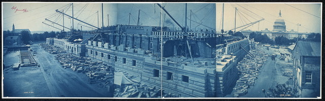 Construction of the Library of Congress, Washington, D.C., June 16, 1891