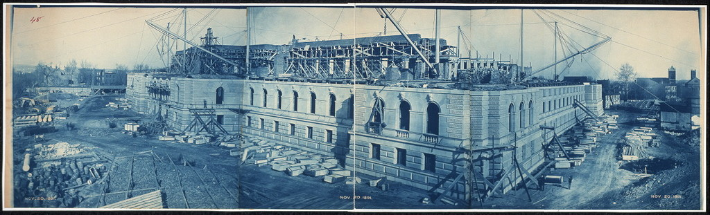 Construction of the Library of Congress, Washington, D.C., Nov. 20, 1891