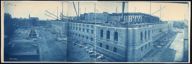 Construction of the Library of Congress, Washington, D.C., Oct. 17, 1891