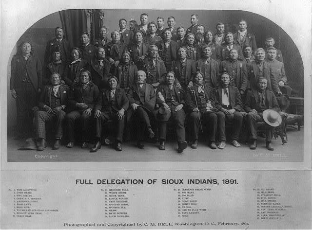 Full delegation of Sioux Indians, 1891 / photographed and