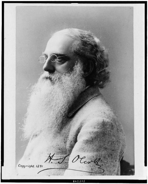 [Henry S. Olcott, head-and shoulders portrait, facing left]