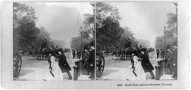 Hyde Park, Queens birthday, London / photographed and published by B.W. Kilburn.