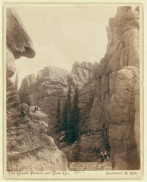 """Lake Harney Peaks,"" near Custer City, S.D., on B. & M. Ry"