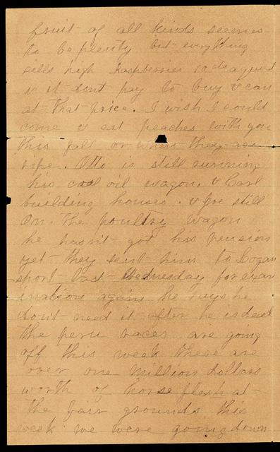 Letter from Sabra G. Van Doren to Uriah W. Oblinger and Laura I. Oblinger, July 7, 1891