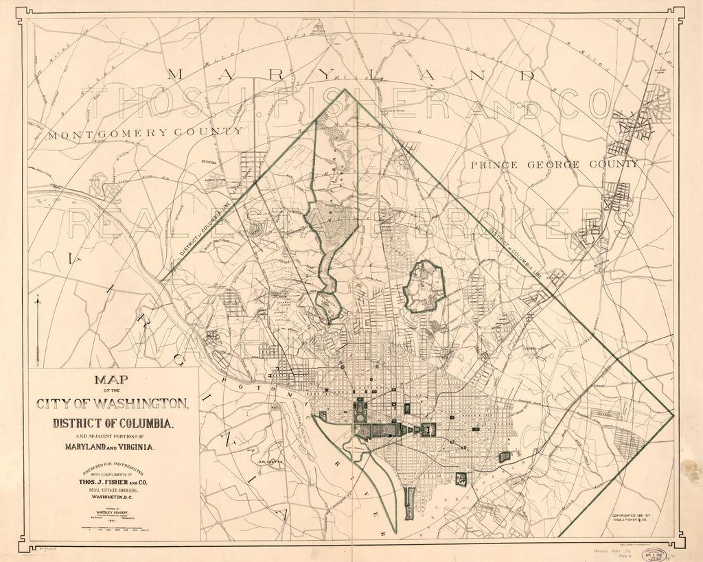Map of the city of Washington, District of Columbia, and