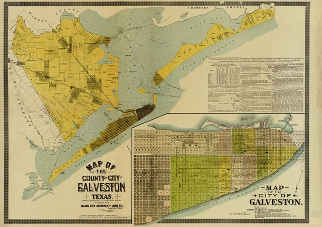 Map of the county and city of Galveston, Texas /