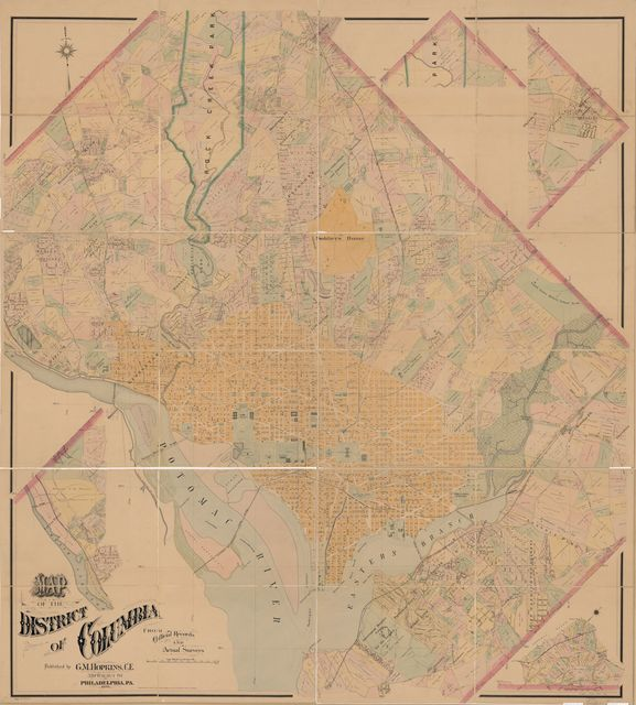 Map of the District of Columbia from official records and actual surveys.