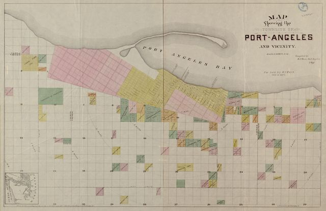 Map showing the townsite of Port-Angeles and vicinty /