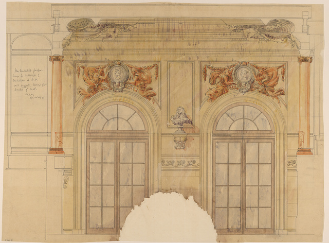 [Marble House, William Kissam Vanderbilt house (Newport, Rhode Island). Interior wall details. Elevation]