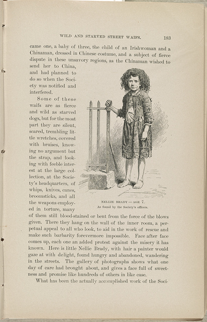 Nellie Brady - age 7 As found by the Society's officers.