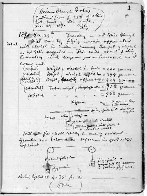Notebook by Alexander Graham Bell, from December 29, 1891 to June 5, 1893